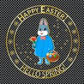 Easter post stamp-02 Royalty Free Stock Photo
