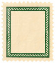 Postage stamp with frame Royalty Free Stock Image