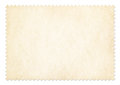 Postage stamp frame isolated with clipping path Royalty Free Stock Photo