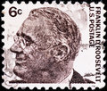 Postage stamp with  Franklin Roosevelt Royalty Free Stock Photo