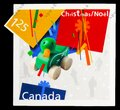 Postage stamp printed in Canada shows Wooden Duck Pull Toy, Christmas, Gifts serie, circa 2003 Royalty Free Stock Photo