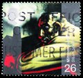Postage stamp printed in United Kingdom shows Industrial Worker (James Watt's discovery of steam power), Millennium Series 1 - Th Royalty Free Stock Photo