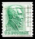 Postage stamp printed in United States shows Andrew Jackson 1767-1845, 7th President, 1961-1966 Regular Issue serie, circa 1966 Royalty Free Stock Photo