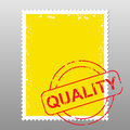 Postage stamp quality business with mark of Stock Image