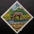 stock image of  Postage Stamp. 1975. Republic of Guinea. Wild animals