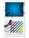 Postage stamp set Stock Photos