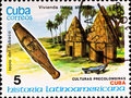 Postage stamp shows example Cuban culture Royalty Free Stock Photo