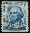 Postage stamp USA Washington president Royalty Free Stock Photo