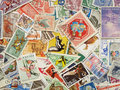 Postage stamps. Royalty Free Stock Photos