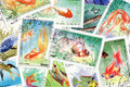 Postage stamps:Fish theme Stock Photo