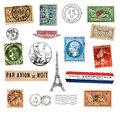 Postage stamps and labels from France Royalty Free Stock Photography