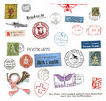 Postage stamps and labels from Switzerland Royalty Free Stock Photography