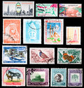 Postage stamps - Middle East Royalty Free Stock Photos