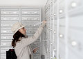 Postal delivery worker Royalty Free Stock Photo