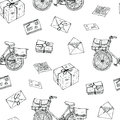 Postal Service Seamless Pattern