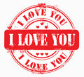 Postal stamp i love you Stock Photos