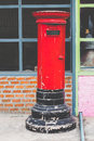 Postbox red vintage