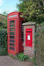 Postbox and Telephone kiosk Stock Image