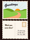 Postcard, Add Location  Royalty Free Stock Photo