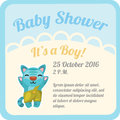 Postcard with baby boy and space for text Royalty Free Stock Photo
