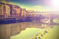 Postcard from florence italy vintage retro style effect Stock Photos