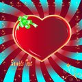Postcard heart, holiday Stock Image