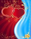 Postcard heart, holiday Stock Photography