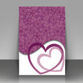 Postcard with hearts beautiful purple for valentine s day or wedding Stock Image