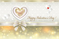 Postcard with hearts for valentines day on the original background Royalty Free Stock Image