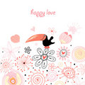 Postcard from the love bird Royalty Free Stock Photography