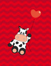 Postcard love. Cow Stock Image