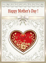 Postcard for Mother`s Day with a heart