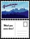 Postcard, Mountain Landscape Royalty Free Stock Photo
