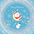 Postcard santa claus Stock Photos