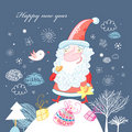 Postcard from Santa Claus Stock Photo