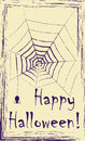 Postcard with  spider net Stock Images