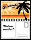 Postcard, Tropical Landscape Royalty Free Stock Photos