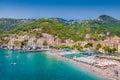 Postcard view of Minori, Amalfi Coast, Campania, Italy Royalty Free Stock Photo