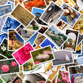 Postcards collection Royalty Free Stock Photo