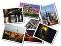 Postcards with Tallinn landmarks Royalty Free Stock Images