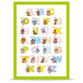 Poster ABC ZOO Alphabet Letters