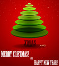 Poster with abstract X-mas tree. Stock Photography