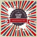 Poster, banner or flyer for American Independence Day. Royalty Free Stock Photo