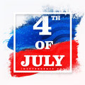 Poster, Banner or Flyer for 4th July celebration. Royalty Free Stock Photo