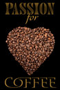 The poster with coffee beans Royalty Free Stock Photos