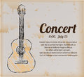 Poster concert over vintage background vector illustration Royalty Free Stock Photography