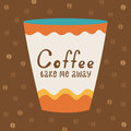 Poster with a cup of coffee and typography vector illustration Royalty Free Stock Photos
