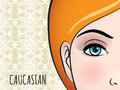 Poster design with Caucasian woman face