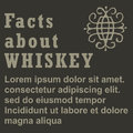 Poster facts about Whiskey, flat design, , template