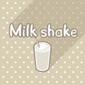 Poster in flat style with glass of milk shake